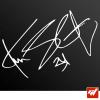 Sticker autographe autograf kevin schwantz