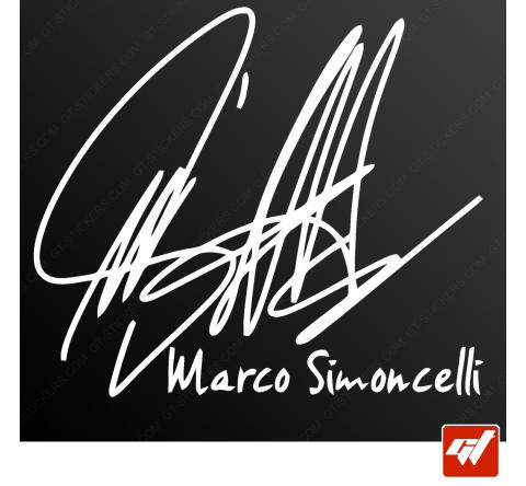 Sticker autographe marco simoncelli