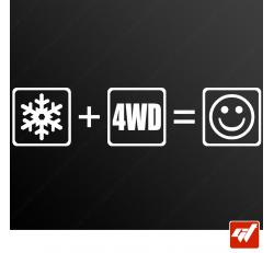 Stickers Fun/JDM - 4x4 on ice