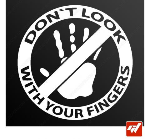Stickers Fun/JDM - Ne pas toucher