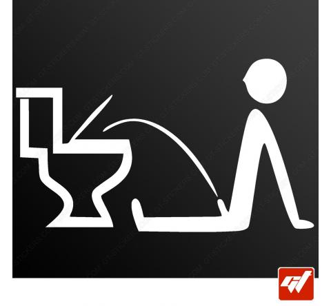 Sticker wc flemmard