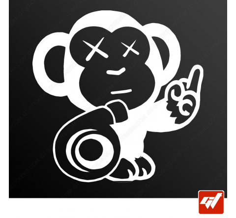 Stickers Fun/JDM - Turbo Monkey