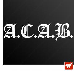 Stickers Fun/JDM - Acab