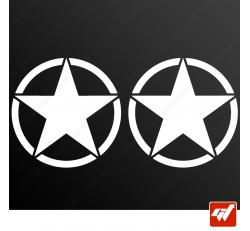 Stickers Fun/JDM - Étoile US Army