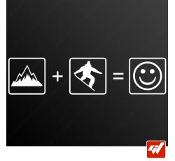Stickers Fun/JDM - Snowboard