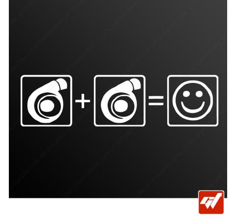Stickers Fun/JDM - Double turbo
