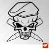 Sticker crane army skull commando