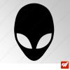Sticker alien ufo ovni xfiles