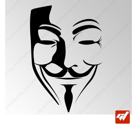 Sticker anonymous vendetta guy