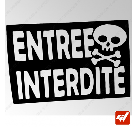 Stickers Fun/JDM - Entrée interdite