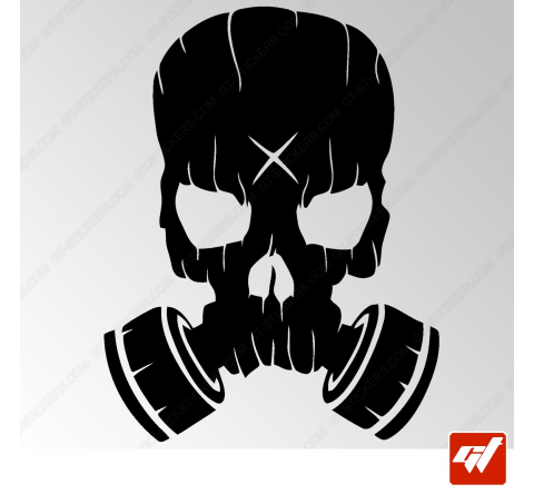 Stickers Fun/JDM - Masque à gaz