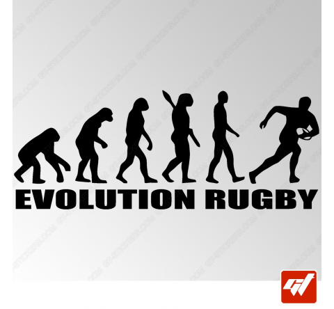 Stickers Fun/JDM - Évoluation Rugby