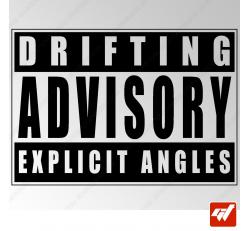 Stickers Fun/JDM - Drifting Advisory