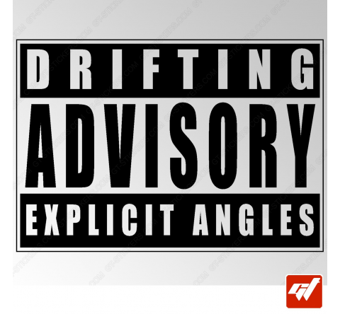 Stickers Fun/JDM - Drifting Advisory