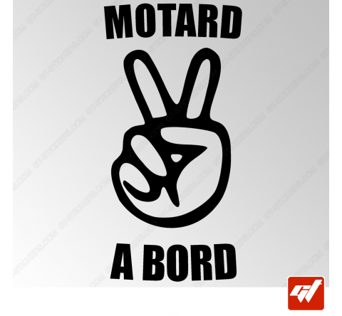 Stickers Fun/JDM - Motard à bord