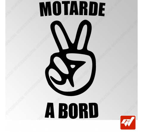 Stickers Fun/JDM - Motarde à bord