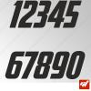 3X Stickers Numéros au choix - Style Avengers