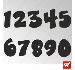 3X Stickers Numéros au choix - Style Fun