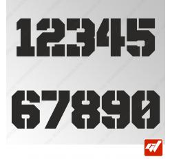 3X Stickers Numéros au choix - Style Army