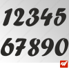 3X Stickers Numéros au choix - Style Diversion