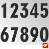 3X Stickers Numéros au choix - Style Straight