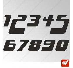 3X Stickers Numéros au choix - Style Starsky