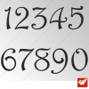 3X Stickers Numéros au choix - Style Precious