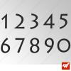 3X Stickers Numéros au choix - Style Mythic