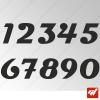 3X Stickers Numéros au choix - Style Magneto