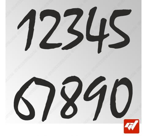 3X Stickers Numéros au choix - Style Evasion