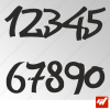3X Stickers Numéros au choix - Style Most Wanted
