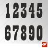 3X Stickers Numéros au choix - Style Western