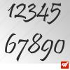 3X Stickers Numéros au choix - Style Design