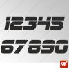 3X Stickers Numéros au choix - Style Sport