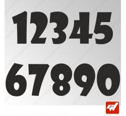 3X Stickers Numéros au choix - Style Gothic