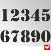 3X Stickers Numéros au choix - Style Army Jeep