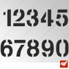3X Stickers Numéros au choix - Style DS3