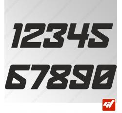 3X Stickers Numéros au choix - Style Spaceship