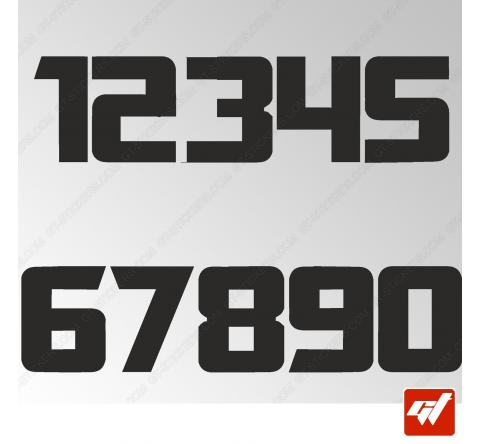 3X Stickers Numéros au choix - Style Transformers