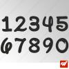 3X Stickers Numéros au choix - Style Disney