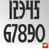 3X Stickers Numéros au choix - Style Wolf