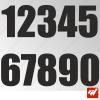 3X Stickers Numéros au choix - Style Impact