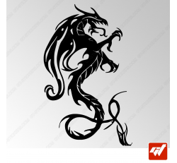 Sticker Dragon Tribal 1