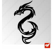 Sticker Dragon Tribal 2