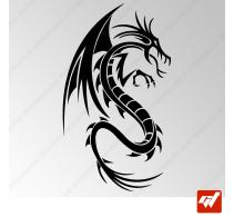 Sticker Dragon Tribal 3
