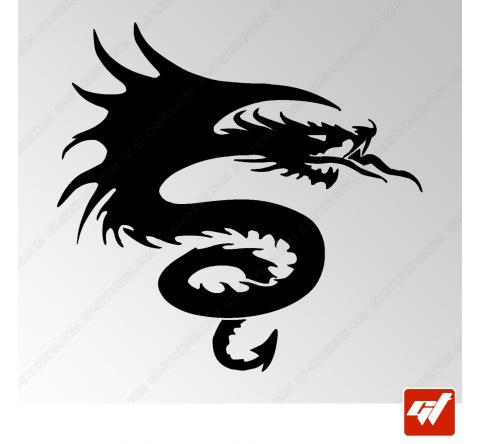 Sticker Dragon Tribal 5