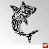 Sticker Requin Maori