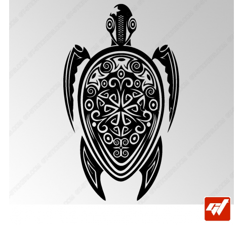 Sticker Tortue Maorie 2