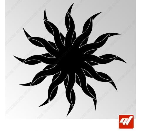 Sticker Soleil Tribal 2
