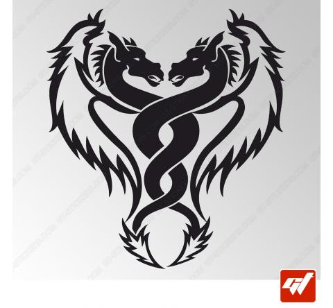 Sticker Dragon Tribal 7